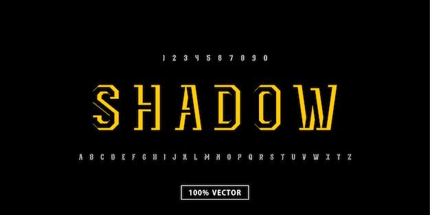 Schatten abstrakte starke stilvolle schrift alphabet schrift