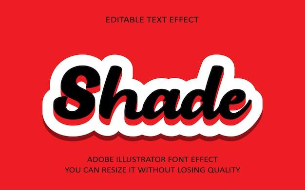 Schatten bearbeitbarer text effekt
