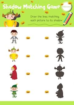 Schatten-matching-spiel halloween