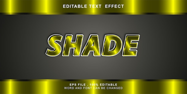 Schatten text effekt bearbeitbare illustration