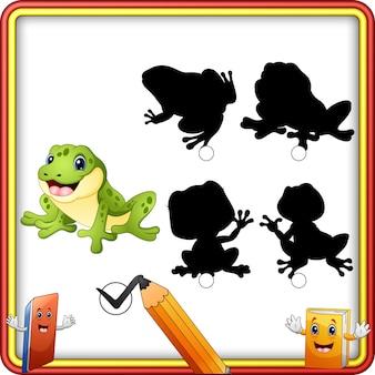 Schattenanpassung der froschkarikatur