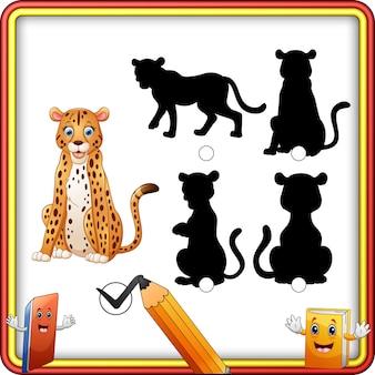 Schattenanpassung der gepardkarikatur