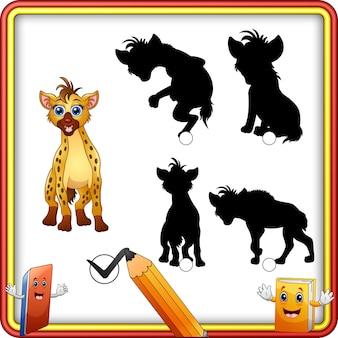 Schattenanpassung der hyänenkarikatur