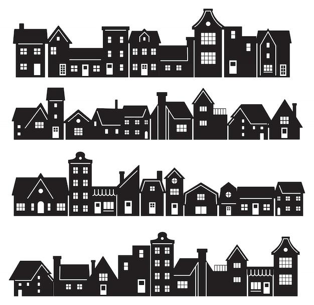 Schattenbild des wohngebäudes