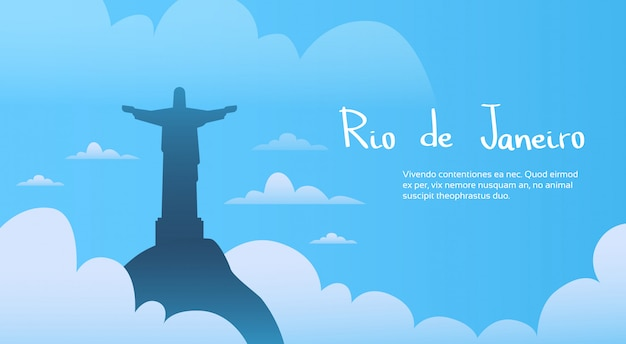 Schattenbild-jesus-statue im himmel rio monument
