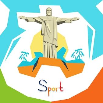 Schattenbild-jesus-statue rio sport competition
