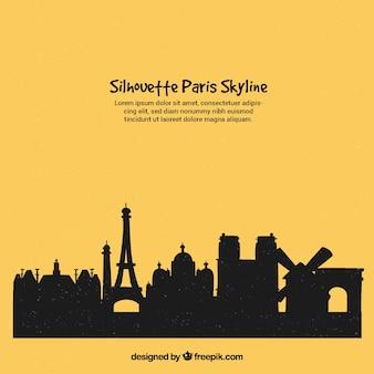 Schattenbild von paris-skylinen