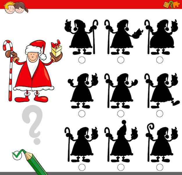 Schattenspiel mit weihnachtsmann