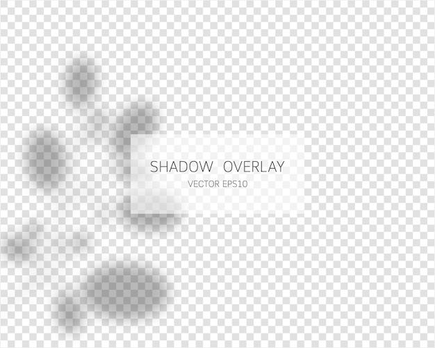 Schattenüberlagerungseffekt. natürliche schatten auf transparentem hintergrund. illustration.