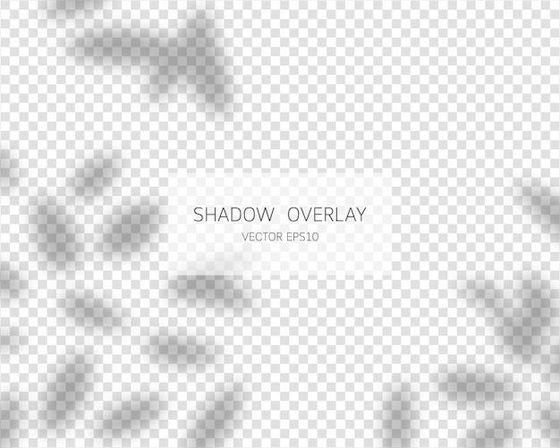Schattenüberlagerungseffekt. natürliche schatten isolierte illustration.