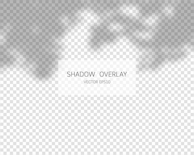 Schattenüberlagerungseffekt. natürliche schatten lokalisiert auf transparentem hintergrund. illustration.