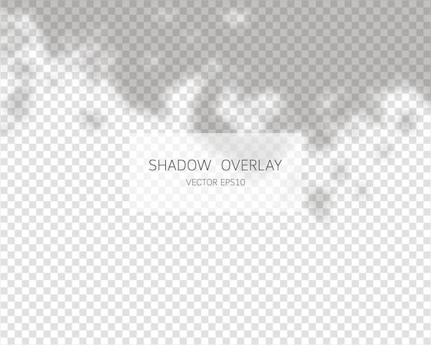 Schattenüberlagerungseffekt. natürliche schatten lokalisiert auf transparentem hintergrund.