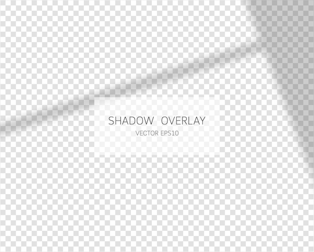Schattenüberlagerungseffekt natürliche schatten vom fenster isoliert auf transparenter hintergrundillustration