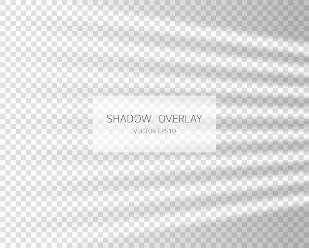 Schattenüberlagerungseffekt. natürliche schatten vom fenster isoliert