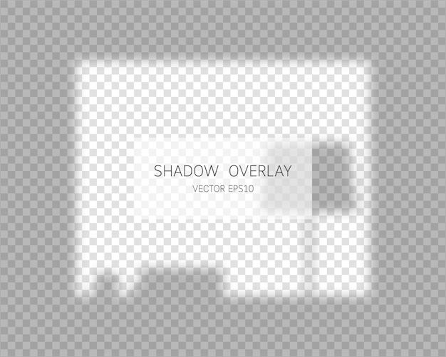 Schattenüberlagerungseffekt. natürliche schatten vom fenster lokalisiert auf transparentem hintergrund. illustration.