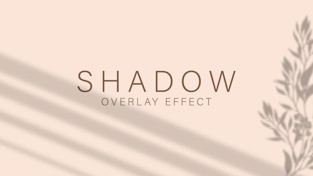 Schattenüberlagerungseffekt. transparentes weiches licht und schatten von zweigen.