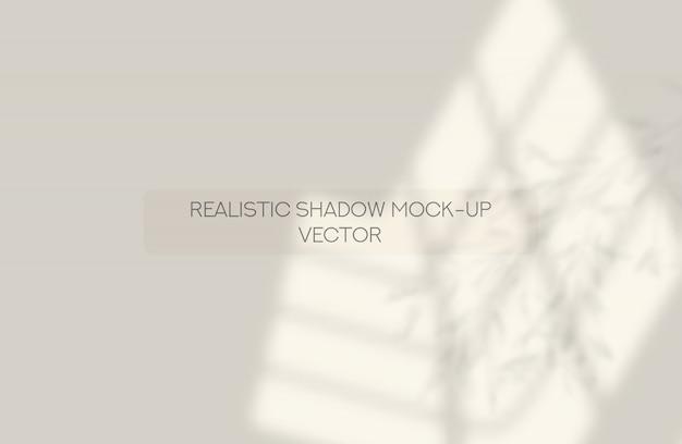 Schattenvorlage. realistisches fenster und blätter.