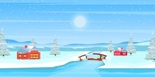 Schauen sie sich dieses erstaunliche design des winterhintergrunds an