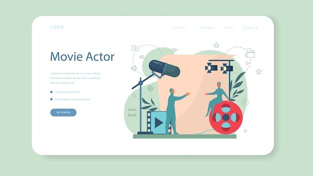 Schauspieler und schauspielerin web banner oder landing page