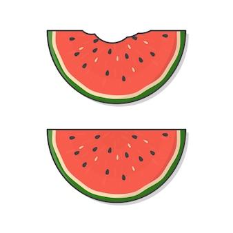Scheibe der wassermelonen-symbol-illustration