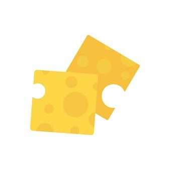 Scheiben der grafischen illustration des käses