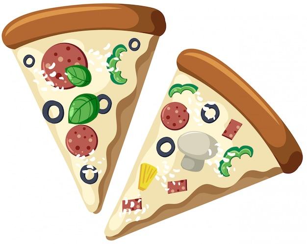 Scheiben pizza-sahnesoße