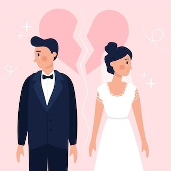 Scheidungsillustrationskonzept