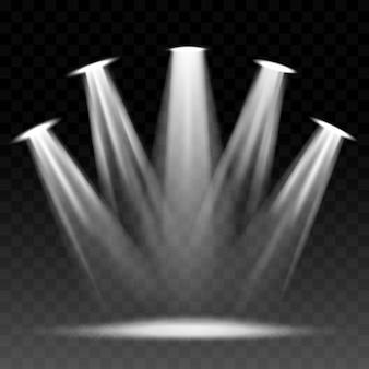 Scheinwerfer beleuchtete szene