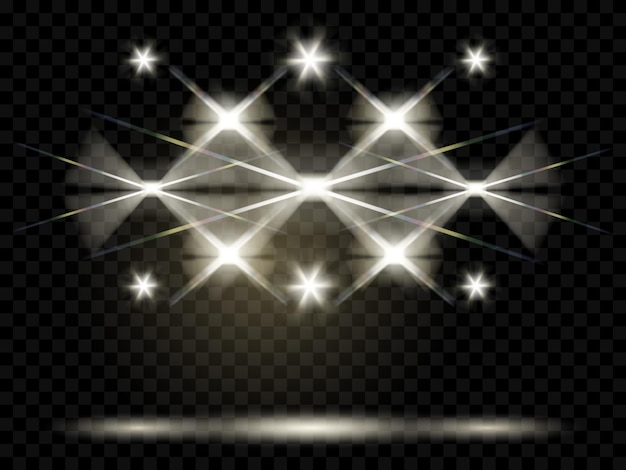 Scheinwerfer. beleuchtung der szene