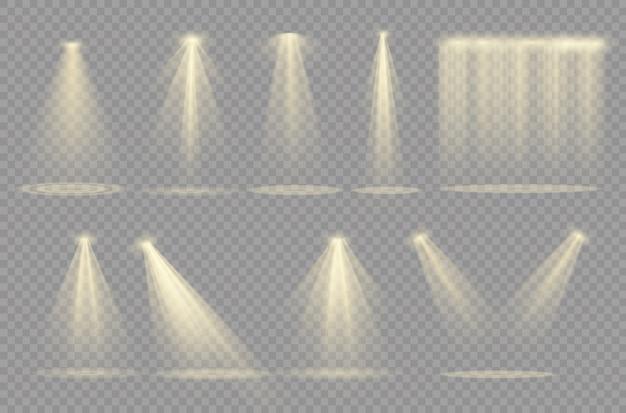 Scheinwerfer. glühlicht isoliert transparent.
