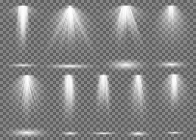 Scheinwerfer. licht scheinwerfer bühnenstrahl, spot lampe projektion studio lichter strahl konzert club show szene beleuchtung set