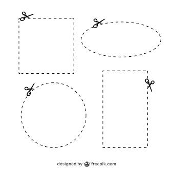 Scheren mit schnittlinien