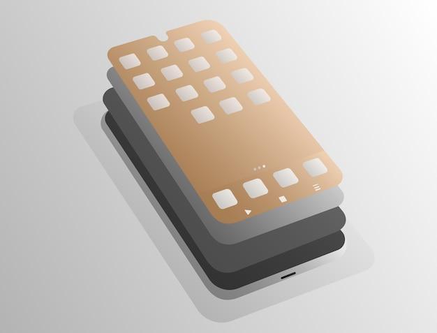 Schichten im smartphone