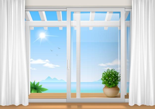Schiebefenster des hotels
