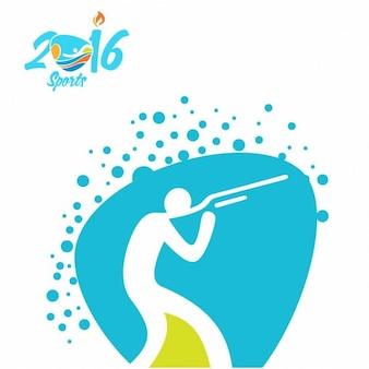 Schießen rio olympia-symbol