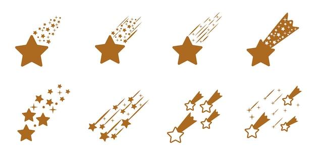 Schießender komet set sternschnuppen