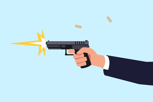 Schießpistole halbflache rgb-farbe