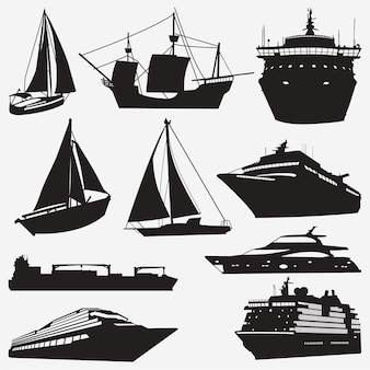 Schiff silhouetten