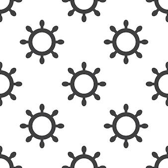 Schiffsrad, nahtloses vektormuster, editierbar kann für webseitenhintergründe verwendet werden, musterfüllungen