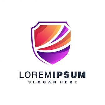 Schild buntes logo
