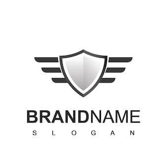 Schild-logo, cyber-sicheres und starkes symbol