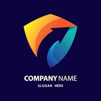 Schild mit pfeil-logo