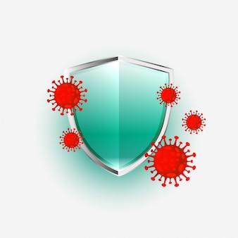Schild schützt neuartiges coronavirus covid-19, um einzutreten