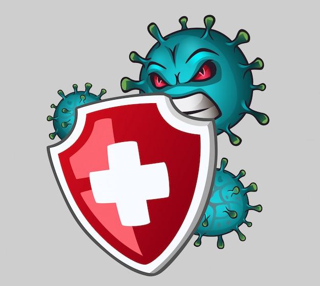 Schild schützt vor viren