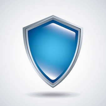 Schild-symbol. sicherheitssystem-design. vektorgrafik