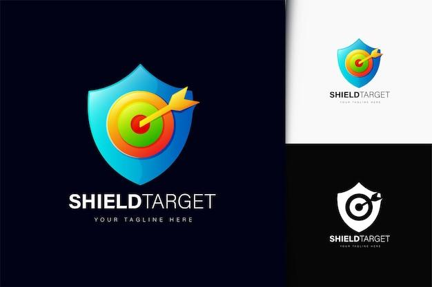 Schild-ziel-logo-design mit farbverlauf