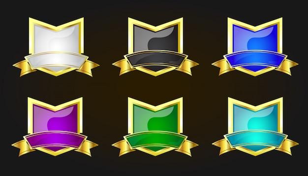 Schilde setzen farbe golden