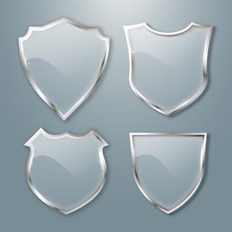 Schildglasplatte glasschilde setbadge