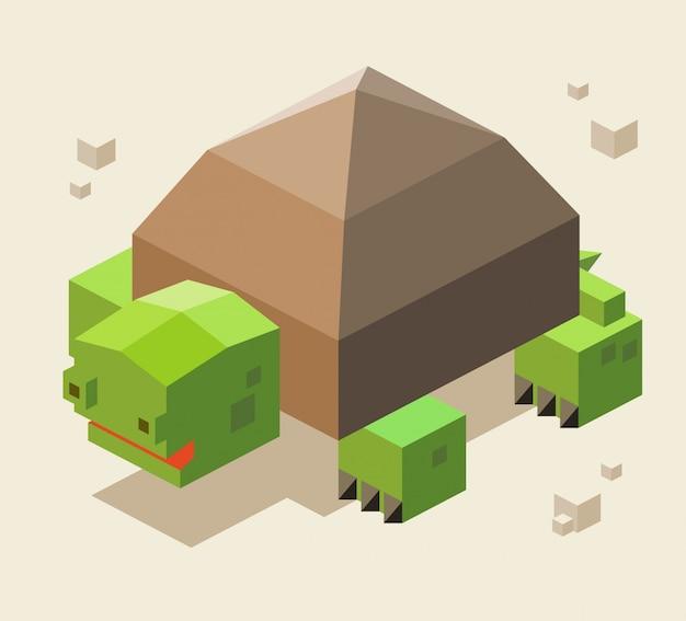 Schildkröte 3d pixelate