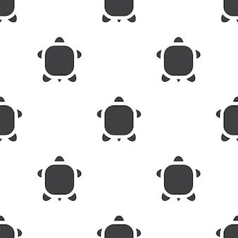 Schildkröte, nahtloses vektormuster, editierbar kann für webseitenhintergründe verwendet werden, musterfüllungen